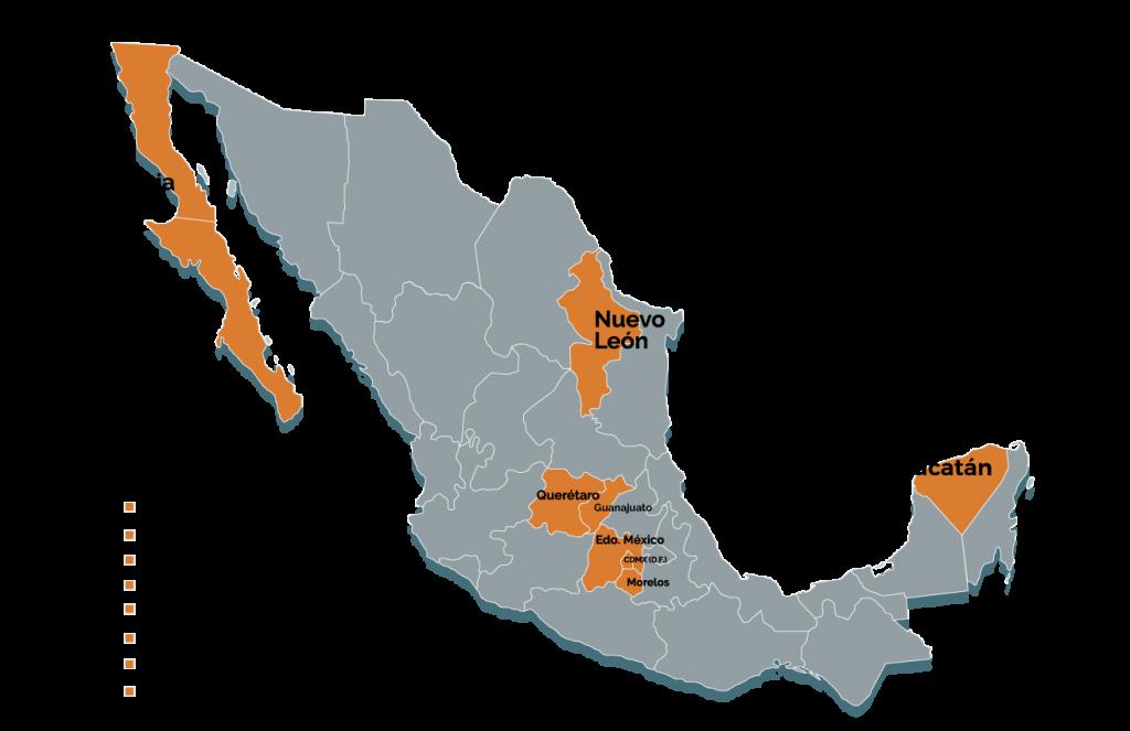 Mapa de sectores productivos en México - Biobiz.org.mx
